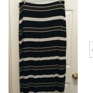 White House Black Market Skirt XL Black Brown